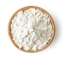 Wooden Bowl Of Flour