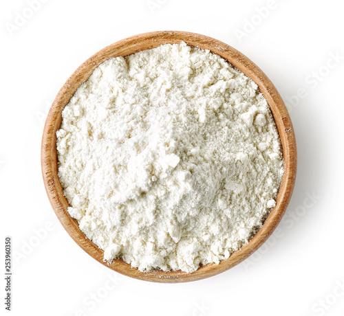 Fotografia wooden bowl of flour