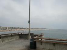 サンタモニカのビーチ...