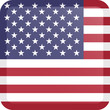 United States flag Button Square