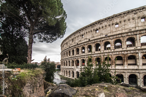 Photo  ROME, ITALY- November, 2018: Colloseum in Rome most remarkable landmark of Rome and Italy