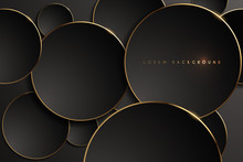Gold And Black Round Shape Background
