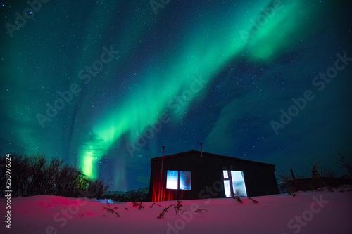 Poster Aurore polaire Northern lights on the Kola Peninsula