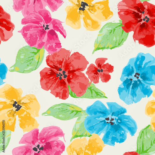 akwarela-kwiatowy-wzor-w-jasnych-kolorach