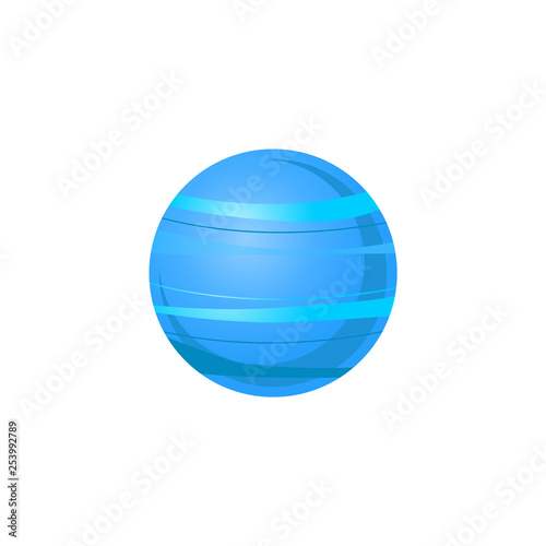 Canvas Print Uranus blue planet of solar system in flat style isolated on white background