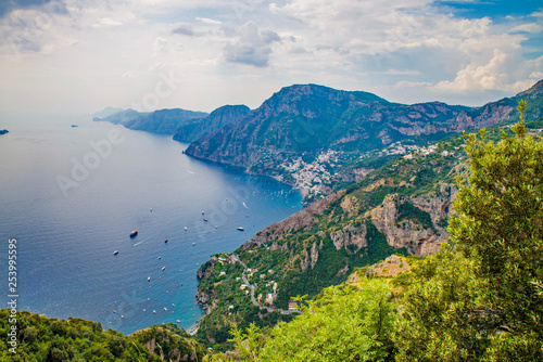 Fotografija Naples, Positano Italy - August 12, 2015 : Hiking trail on the Amalfi Coast: Se
