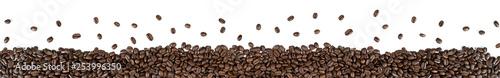 Porozrzucane ziarna kawy