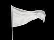 White flag isolated on black