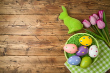 Easter Holiday Background With...