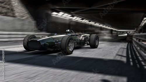 Recess Fitting F1 old f1 racecar 3d render
