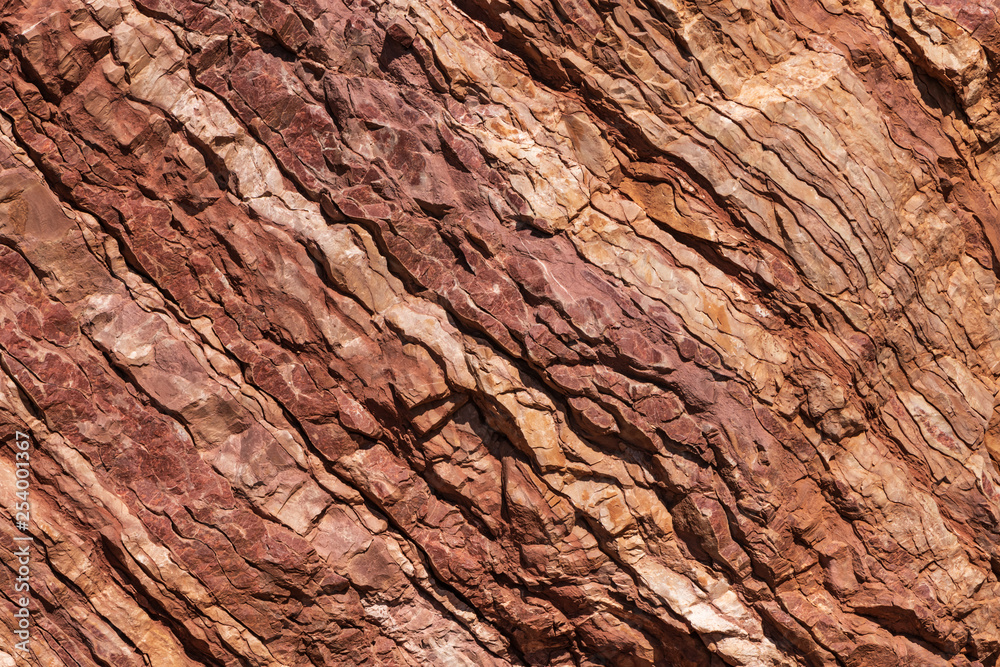 Fototapety, obrazy: Natural texture of red stone rock.