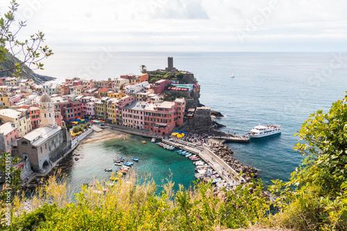 Foto op Canvas Vestingwerk Scorcio di Vernazza, Parco Naturale delle Cinque Terre, La Spezia, Mar Ligure, Liguria, Italia