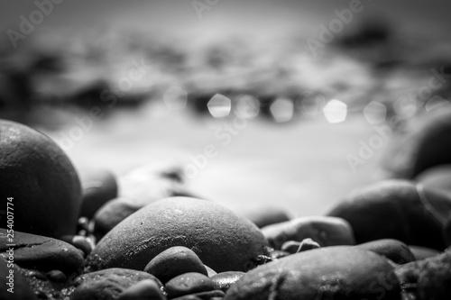 Photo sur Plexiglas Zen pierres a sable stones on a background