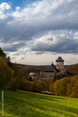 Photo  Famous Karlstejn castle  near Prague in Czech Republic.