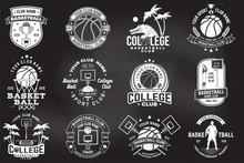 Set Of Basketball College Club...