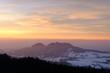 Beautiful sunset in the Gantrisch park in the swiss pre-alps.