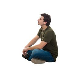 Man Sitting Side View
