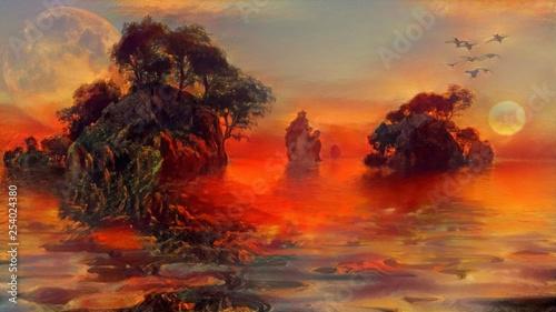 Mystic islands Canvas Print