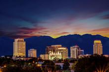 Sunrise Over Salt Lake City Wi...