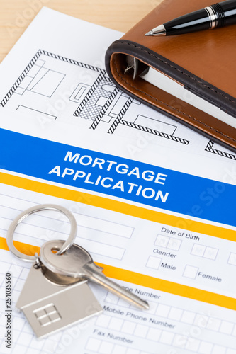 Mortgage application form, financial concept - 254035560