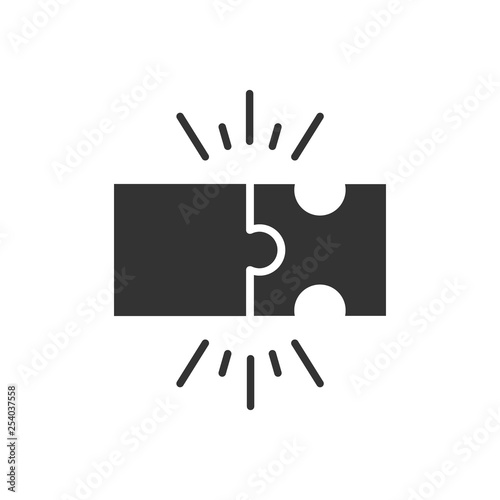 Photo  Puzzle compatible icon in flat style