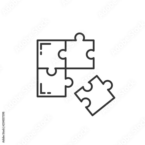 Puzzle compatible icon in flat style Wallpaper Mural
