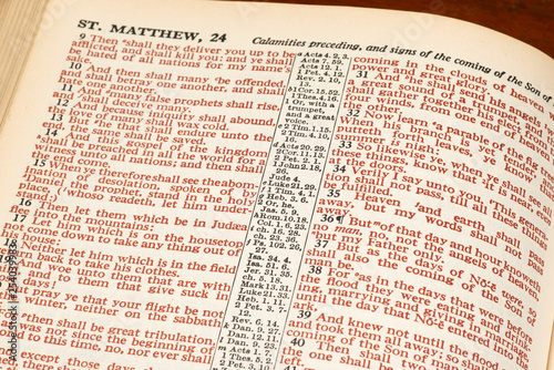 Words of Christ in Red From Bible Page