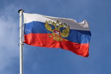 Russian Flag Waving Against Th...