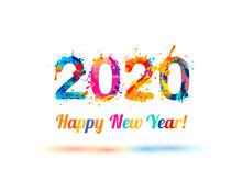 Happy New Year 2020 Congratulation Card