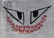 Hahaha Graffiti Wall From Joke...