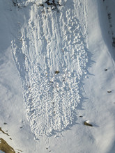 Aerial View Of Snow Avalanche ...