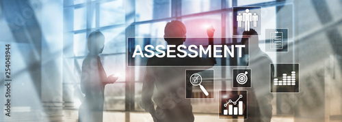 Assessment Evaluation Measure Analytics Analysis Business and Technology concept Wallpaper Mural