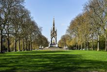 Albert Memorial In Kensington Gardens, London