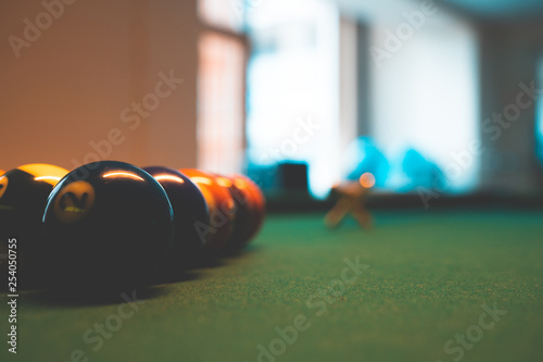 Fotomural Billiard Balls and a Pool table