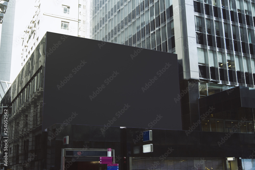 Fototapety, obrazy: Empty black billboard