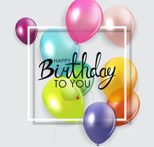 Glossy Happy Birthday Concept ...