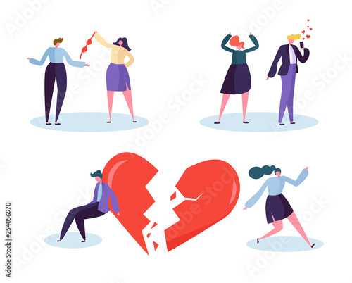 Fototapeta Broken Heart People Love Relation Concept