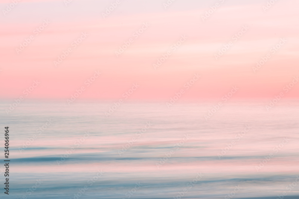 Fototapety, obrazy: Abstract blurred sunrise sky and  ocean nature background