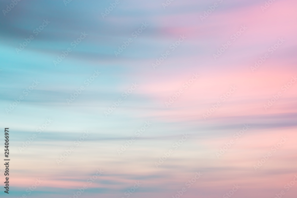 Fototapeta Defocused sunset sky  natural background
