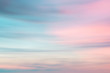 canvas print picture - Defocused sunset sky  natural background