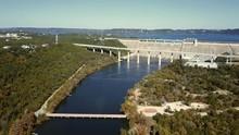 Mansfield Dam Aerial Wide Shot