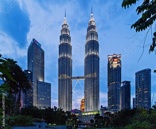 Canvas Prints Kuala Lumpur Kuala Lumpur city downtown skyline Twin Tower Malaysia