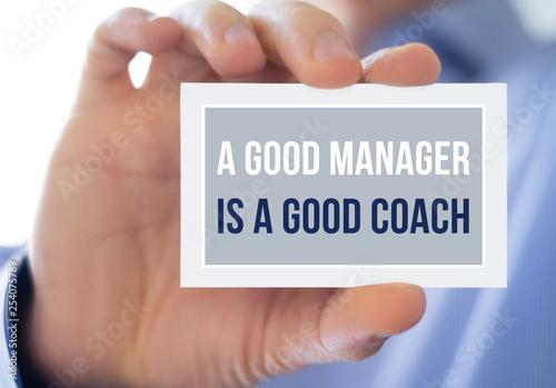 Fotografie, Obraz  A good manager is a good coach
