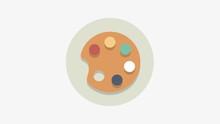 8K - Color Palette  Icon Symbol Round Logo