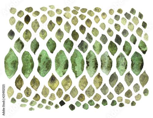Türaufkleber Pistazie Wild Texture Watercolor. Exotic print. Snake Skin. Animal print