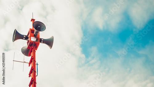 vintage horn speaker - public relations sign and symbol Fototapet
