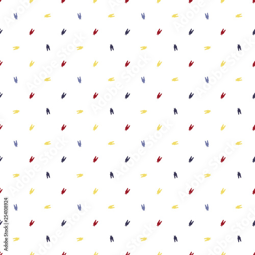 Seamless color bright dogtooth vector pattern Canvas Print