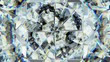sparkling gemstone macro rotating seamless loop. kaleidoscope