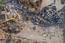 Aerial View Of Scrap Metal Rec...