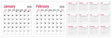 Calendar 2020. English Calende...